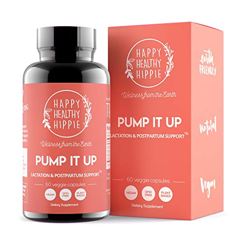 Pump It Up Lactation Supplement - Proven Powerful Gentle All-Natural Herbal Breastfeeding Postnatal Vitamins Support Easier, Faster Let Down, Abundant Supply, Relaxation, Happiness & Colic Gas Relief