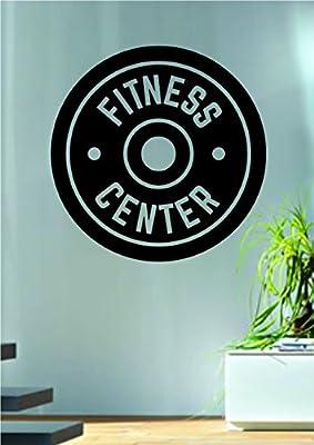 Fitness Center Design Quote Decal Sticker Wall Vinyl Art Words Decor Gym Workout Weight Dumbbell Inspirational