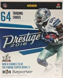 2016 Panini Prestige NFL Football Blaster Box. This Box of 2016 Trading Cards Contains 8 Packs With 8 Card Each. Look For Retail Exclusive Memorabila Cards And Inserts