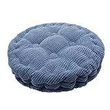 Saim Round Pillow Chair Pad Thickened Tatami Cushion Indoor Outdoor Pad, Blue