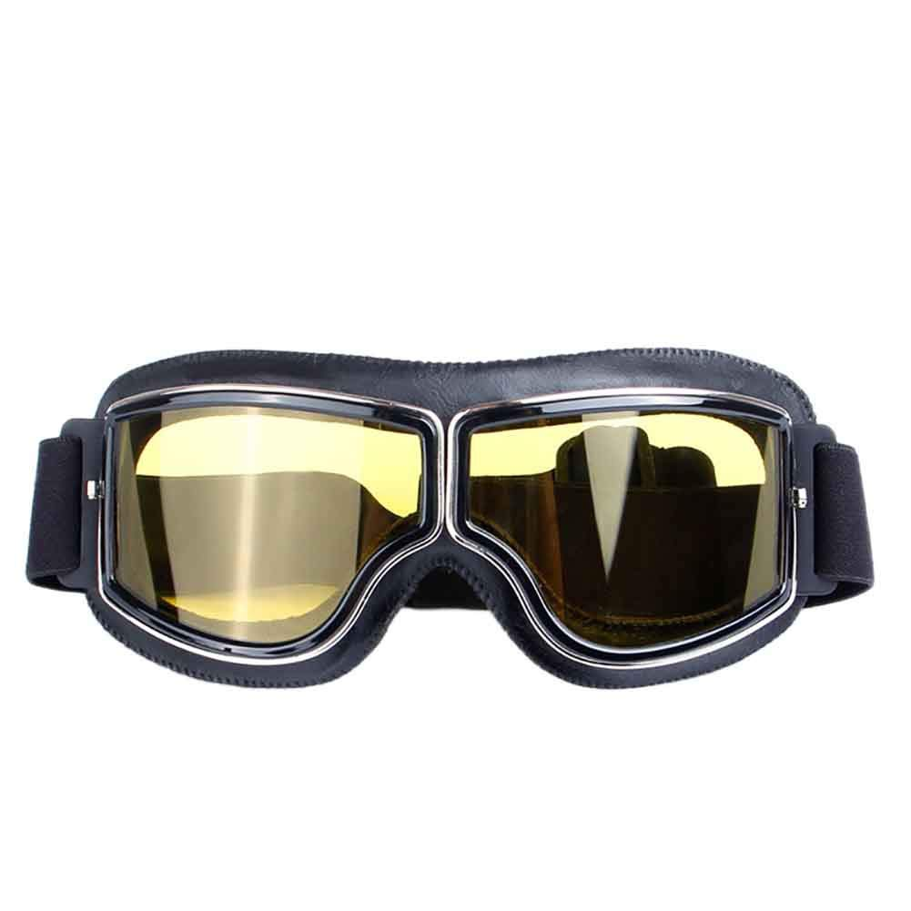 Wongfon retr/ò occhiali moto aviatore pilota Cruiser scooter occhiali da vista per casco Harley occhiali