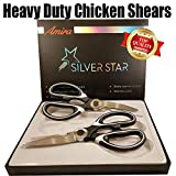 Kitchen Shears Scissors Heavy Duty Stainless Steel Multi Purpose Sharp Chicken Ultrasharp Premium 2 Set
