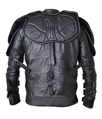 HLS Batman Shield Cowhide Leather Jacket XXS-5XL Black