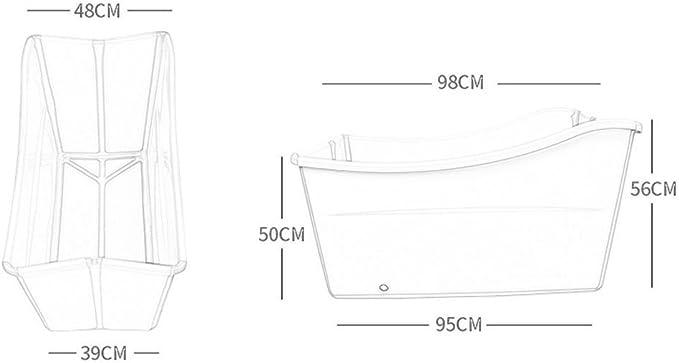 Grande Piatto Doccia per la Vasca da Bagno Vasca da Bagno per Bambini 98x56x48cm ZDYG Vasca da Bagno Pieghevole Vasca Portatile Pieghevole Vasca da Bagno con idromassaggio