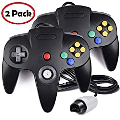 "Product Description : 1. It features ten buttons, one analog ""Control Stick"" and a 8-way directional pad, all laid out in an ""M"" shape. 2. Compatible with Nintendo 64 Home Video Game Console. Perfect controller for Mario Kart, Donkey Kong 64,..."