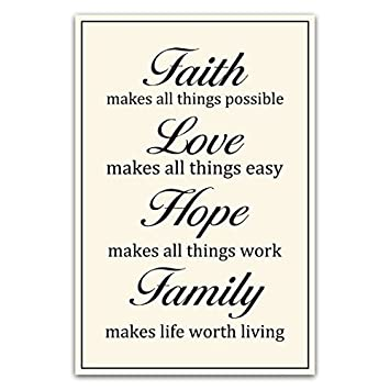 Amazon Meishe Art Motivational Poster Print Faith Love Hope Interesting Faith Love Hope Quotes