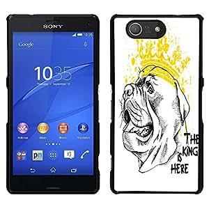 Dragon Case - FOR Sony Xperia Z3 Compact - the king is here - Caja protectora de pl??stico duro de la cubierta Dise?¡Ào Slim Fit