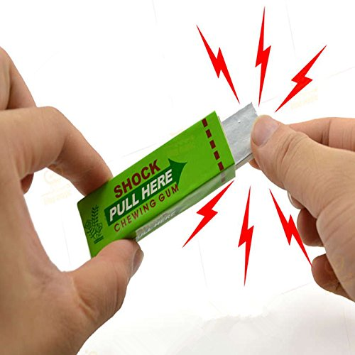 2 Green Joke Gadget Shocking Chewing Gum Electric Tricky Prank Gag Funny Toy Gift
