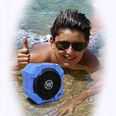 "Bluetooth Speaker for iPhone and Other Mobile Devices, Waterproof, Rugged, Shockproof, Dustproof, Indoor/Outdoor, Hi-Def Bass, by ARMOR MiNEâ""¢"