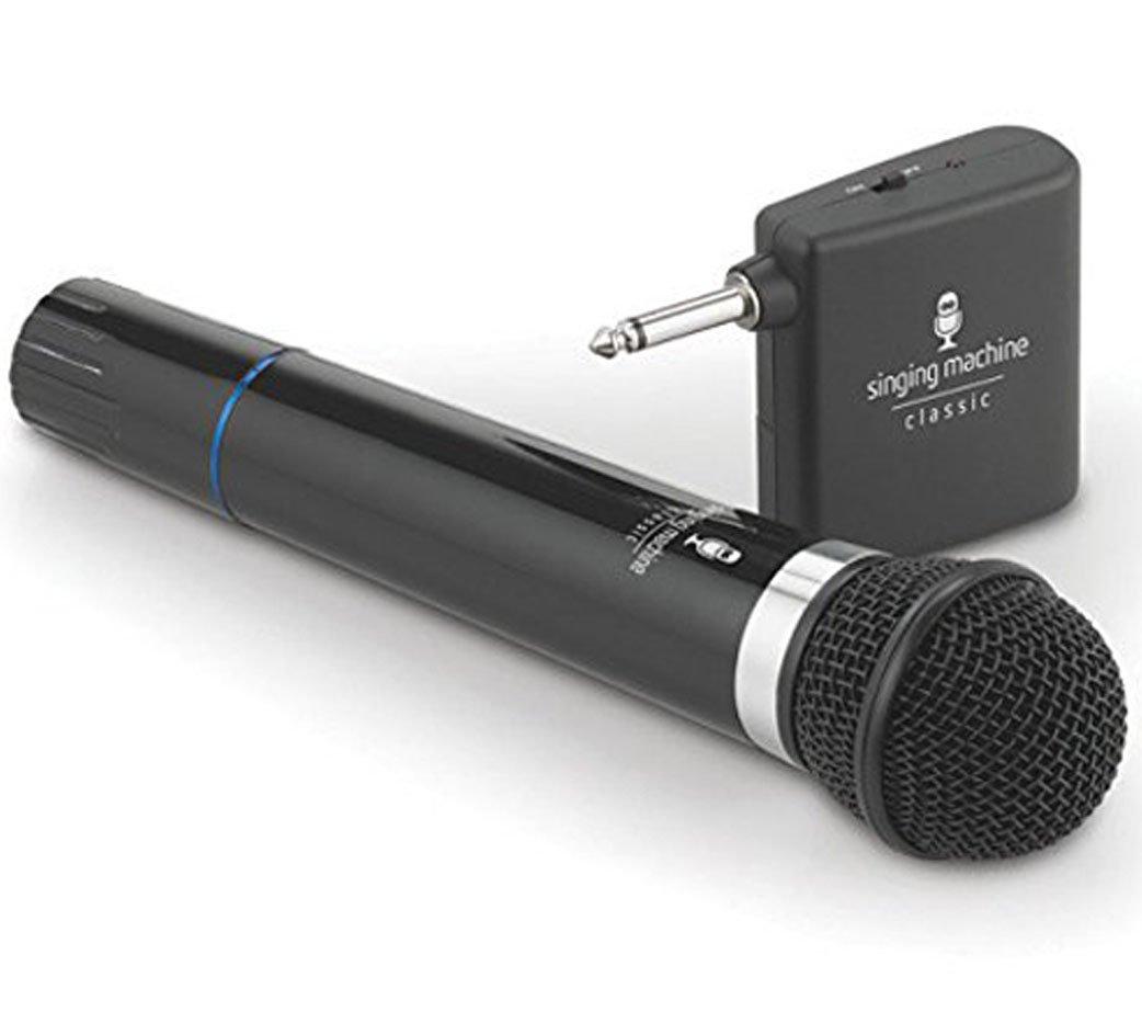 Microphone Wireless Singing Machine SMM-107 Uni-Directional Dynamic - Black (Renewed) by Singing Machine