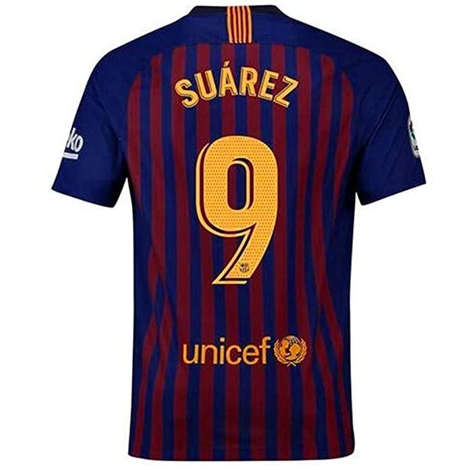 purchase cheap 1ffcb c2360 Amazon.com: Alpsport #9 Suarez Barcelona Home Soccer Jersey ...