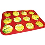 Keliwa 12 Cup Silicone Muffin - Cupcake Baking Pan / Non - Stick / Dishwasher - Microwave Safe