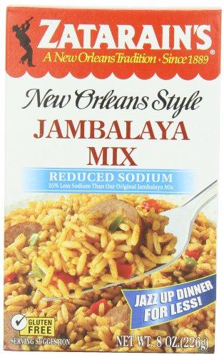 ZATARAIN'S Reduced Sodium Jambalaya Mix, 8-Ounce (Pack of 6)