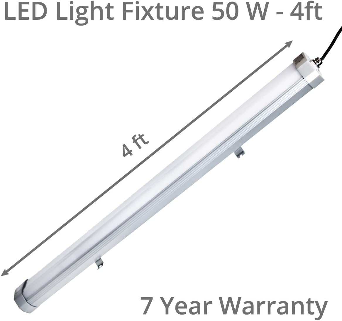4ft - 50W Perfect for Indoor /& Outdoor 6720 Lumens Hazardous Location Linear Lighting LED Light Fixture 5 Year Warranty Available in 2ft /& 4ft SurplusLighting LZE Division II Class I