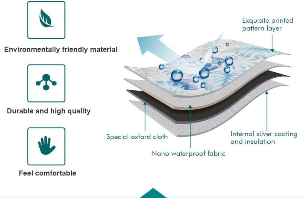 GZxyj Funda Lavadora Impermeable Hojas Lino Lavadora Carga Frontal Cubierta Protector Secadora