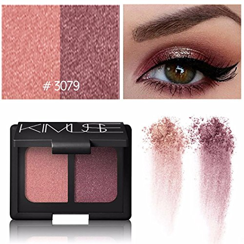 Poluck Women's Eyeshadow Palette Two-color 5 Styles Optional Natural Nudes brown Shimmer Glitter Shining Waterproof Long Lasting EyeShadow Cosmetic - Metal Eye Shield