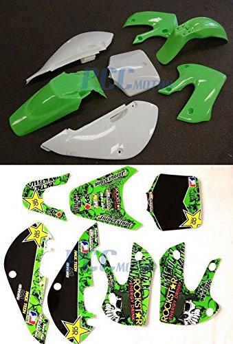 PS16 3L METAL MULISHA DECALS STICKER /& PLASTIC KIT FOR KAWASAKI KLX110 110 KX65 DE66