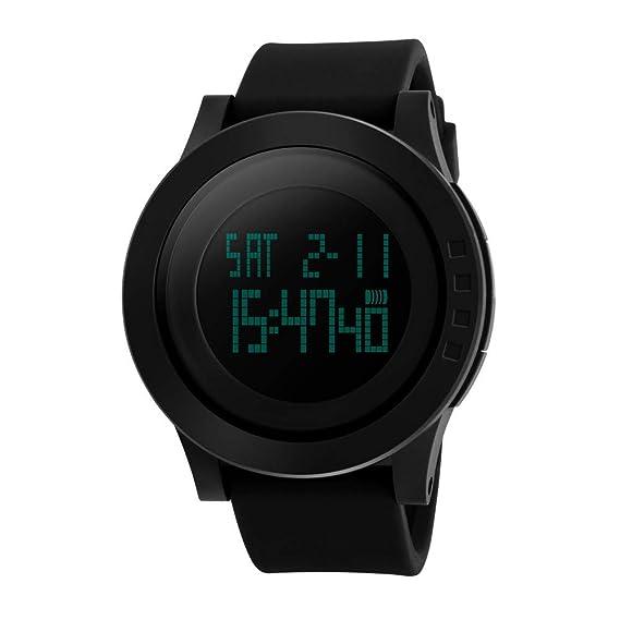 Farsler Multifunción Hombre LED 50M Impermeable Reloj Mujer Deportes Natación Reloj Digital Wirstwatch
