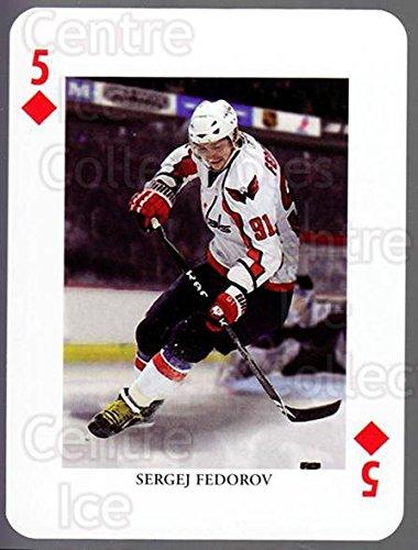 (CI) Sergei Fedorov Hockey Card 2008-09 Swedish Ice Hockey Playing Card 31 Sergei Fedorov