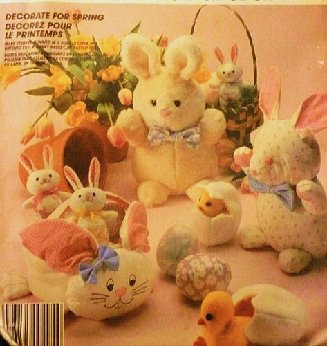 McCall's 2908 Easter Bunnies: Bunny, Bunny Basket, Stuffed Chick, Hatched Egg, Stuffed Egg, Small Bunny
