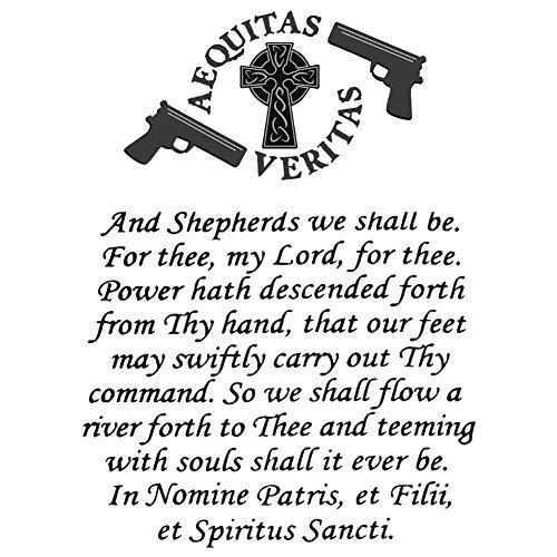 Fathead Vinyl (Vinyl Sticker - The Family Prayer Aequitas Veritas Saints GUN Celtic Cross)