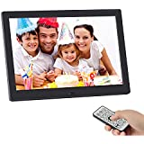 SSA Digital Picture Frame, 10.1 inch 1280x800 High Resolution Full IPS Photo/Music/Video Player Calendar Alarm Auto On/Off Timer, Ultra Slim Design with Remote Control (10)