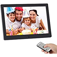 Digital Picture Frame,SSA 10.1 inch 1280x800 High Resolution Full IPS Photo/Music/Video Player Calendar Alarm Auto On/Off Timer, Ultra Slim Design with Remote Control (10)