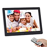 Digital Picture Frame,SSA 10.1 inch 1280x800 High Resolution Full IPS Photo/Music/Video Player Calendar Alarm Auto On/Off Timer, Ultra Slim Design with Remote Control (10'')