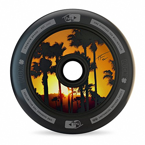Lucky TFox Signature Hollow Core Scooter Wheel (1-Count), Black, 110MM - Single (Signature Aircraft)