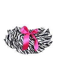 Vogholic Baby Girl Satin Ruffle Bloomers Diaper Cover Zebra Bowknot Pants (L,Zebra)