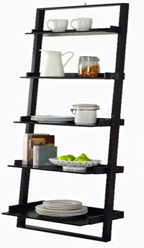 Sts Supplies Ltd Etagere Ladder Bookcase Shelf Rack Dvd Cd Corner Wood Floor Stand 5 Tier Decor Angle Mounted Shelving Tower Ebook By Alltim3shopping Amazon Co Uk Kitchen Home