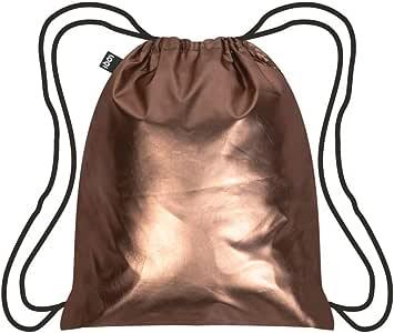 LOQI LQB3-MMRO Metallic Matt Rose Gold Backpack, Rose Gold, L Capacity