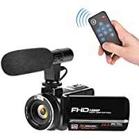 Full HD Camcorder 1080p Digital Camera 30FPS Video Camera...