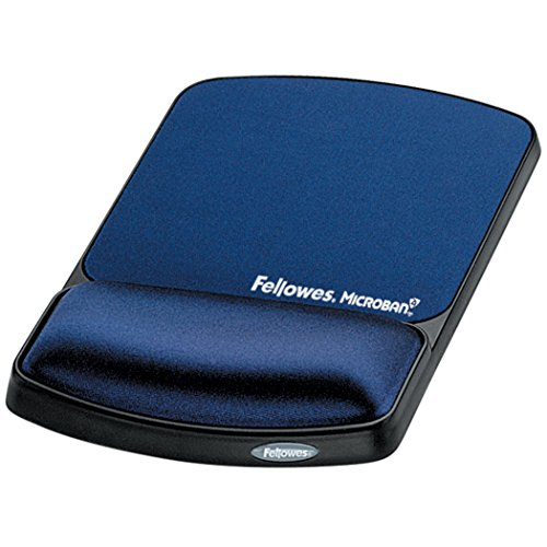 Fellowes Gel Wrist Support And Mouse Pad with Microban Protection, Sapphire (9175401)