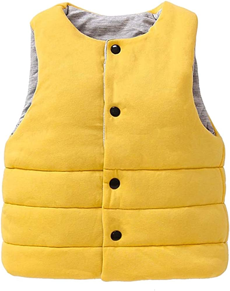 Kid Waistcoat Casual Outwear Clothes XFentech Baby Girls Boys Gilet Coat