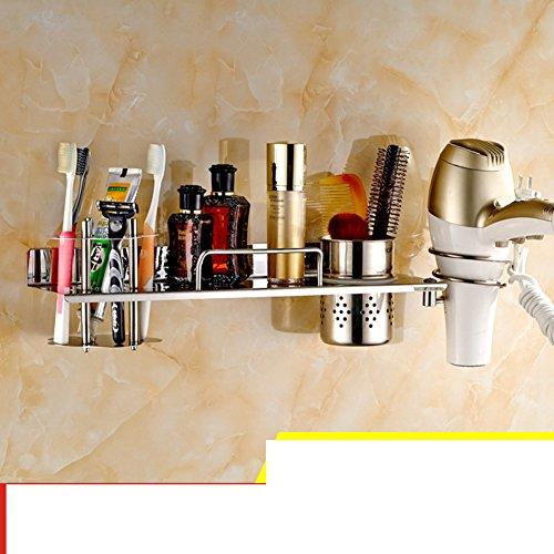 Hair Dryer Holder,Hair Dryer Shelf,Hair Blow Dryer Holder, stainless steel hair dryer rack toilet Bathroom storage rack Wall-mounted Storage cartridge-A