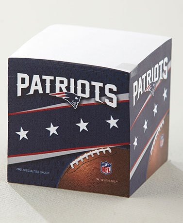 NFL Sticky Note Cubes Patriots (Note Cube Nfl)