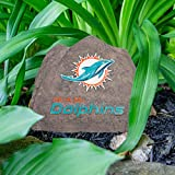 NFL Miami Dolphins Team Logo Faux Rock Lawn Decor