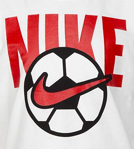 Nike Kids Boy's Soccer Ball Tee (Little Kids) White 6 Little Kids 3