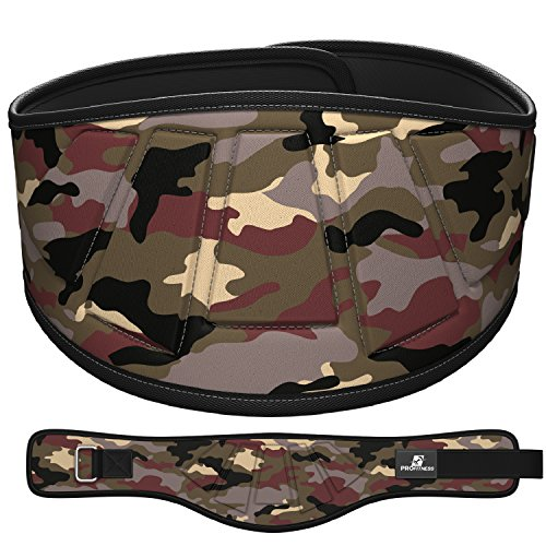 "ProFitness Neoprene Weight Lifting Belt 6"" Back Support, Perfect for Cross Training, Olympic Lifting, for Men and Women (Military Camo, Medium, 32"" - 36"" Around Waist)"