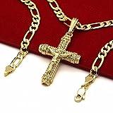 chanel platinum men - Men's 14k Gold Plated High Fashion Cross