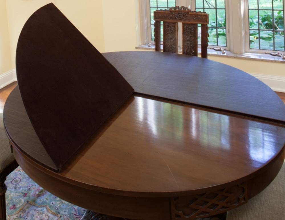 Amazon Com Dining Room Table Pad Custom Made Size And Shape No Leaves Home Kitchen