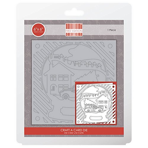 Limited Edition Snowglobe - Trimcraft First Edition Metal Paper Craft a Card Die Set - Snow Globe