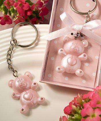 Teddy Bear Design Keychain (Pink Teddy Bear Design Favor Saver Key Chains, 1)