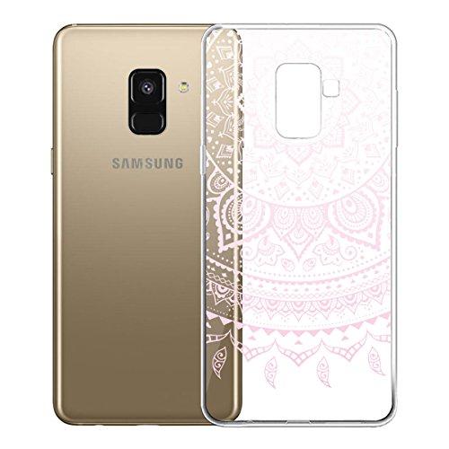 Funda para Samsung Galaxy A8 2018 (SM-A530) , IJIA Transparente Love Pony TPU Silicona Suave Cover Tapa Caso Parachoques Carcasa Cubierta para Samsung Galaxy A8 2018 (5.6) WM86