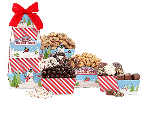 Rocky Mountain Chocolate Factory Gift Tower by Wine Country Gift - Baskets Popcorn Wine Country Gift