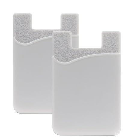 SHANSHUI 2 Pack Tarjetero Adhesivo Porta Tarjetas, (Pegamento) para Todo Tipo de Móviles