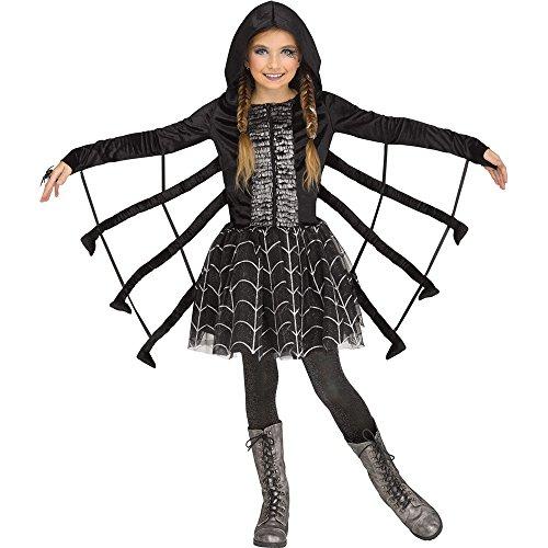Fun World Sparkling Spider Child Costume, Small, -