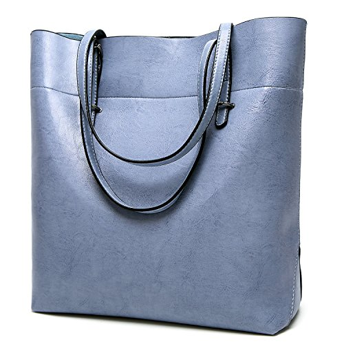 SiMYEER Women Top Handle Satchel Handbags Messenger Shoulder Bag for Women Top Purse Tote (Blue Tote)
