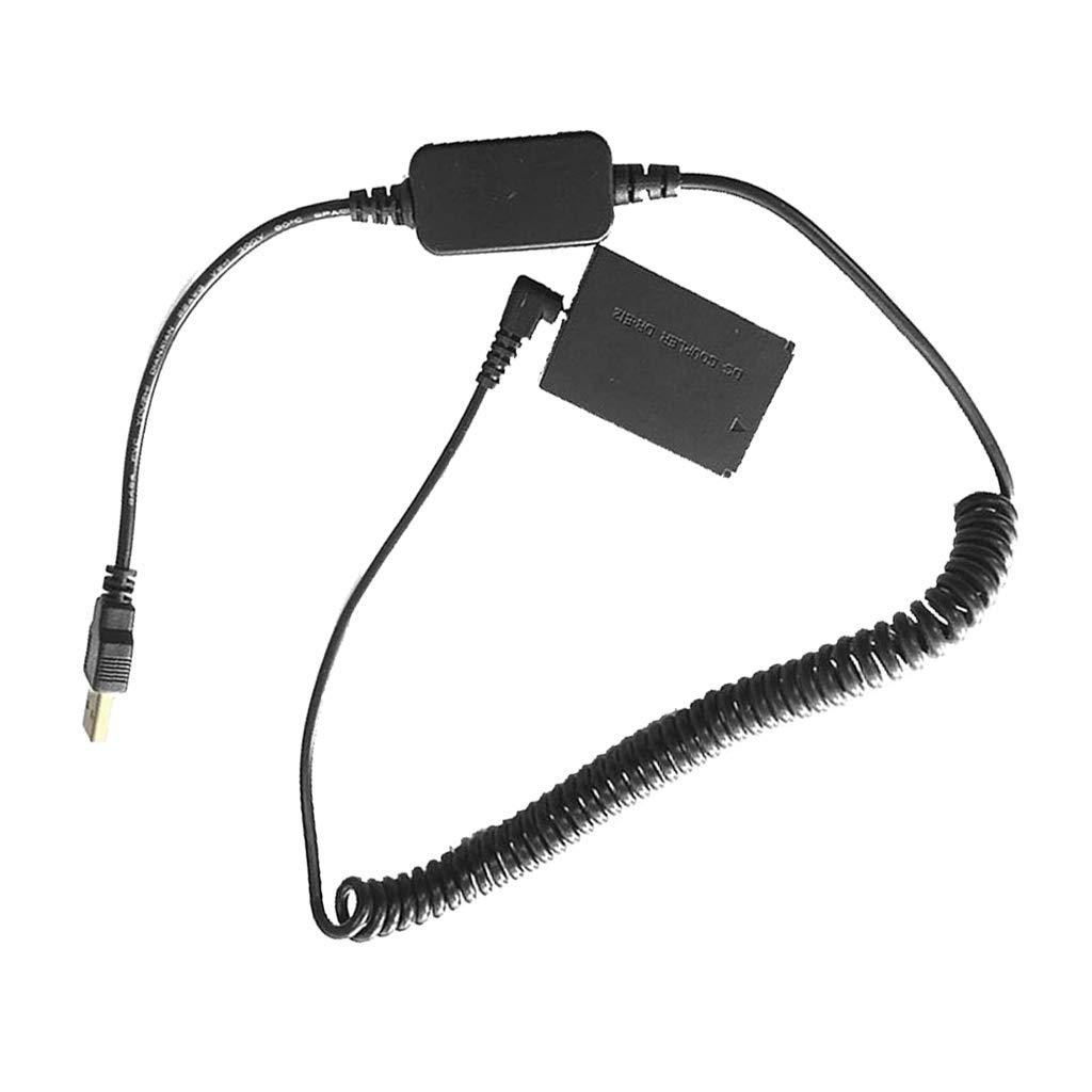 Jasnyfall Black LP-E12 DR-E12 DC Coupler Fake Dummy Battery CA-PS700 USB Cable Adapter Camera EOS M EOS M2 M10 M50